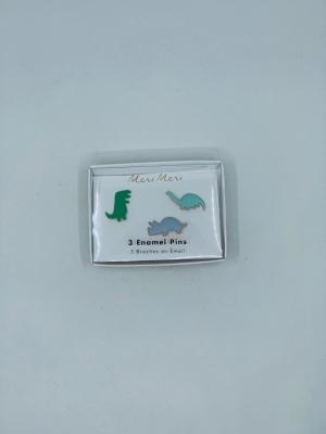 Dino enamel pins logo
