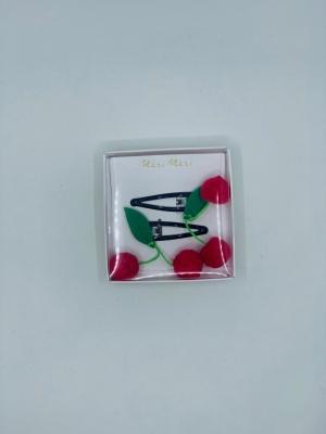 Cherries hair clips logo