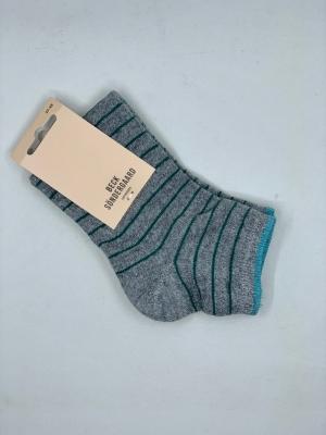 Dollie stripe sock logo