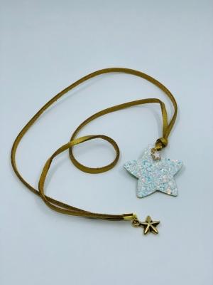 Necklace stardust white logo