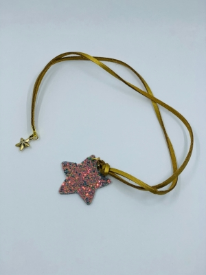Necklace stardust grey logo