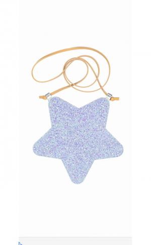 Bag leather star blue logo