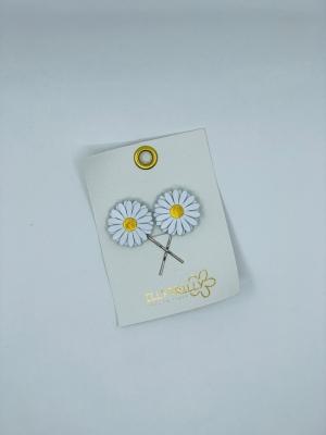 Hairclips Daisy gold logo