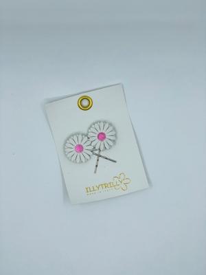 Hairclips Daisy pink logo