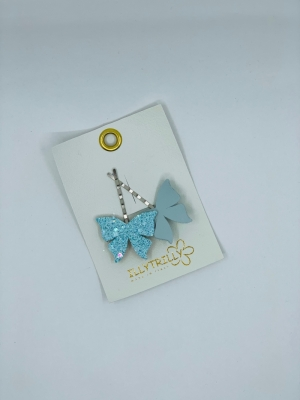 Hairclips butterfly blue logo