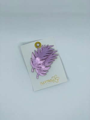 Hairclips fern leaves lilac  logo