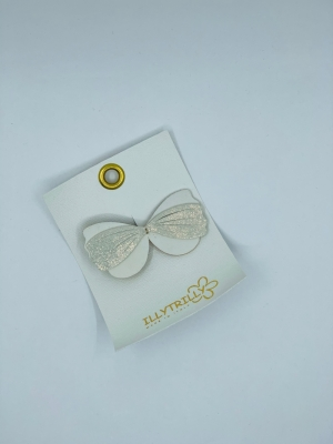 Hairclips wild butterfly gold logo
