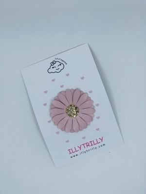 Hairclip daisy pink logo