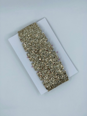 headband glitter gold logo