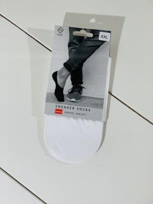 Sneaker socks white logo