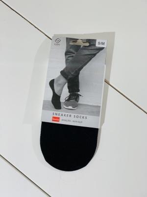 Sneaker socks black logo