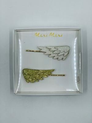 Glitter Wing Hair slides logo
